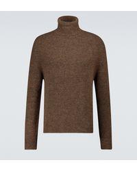 Nanushka Malthe Wool And Alpaca-blend Turtleneck - Brown
