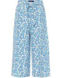 Polo Ralph Lauren Culottes en mezcla de seda floral - Azul