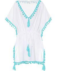 Anna Kosturova Tasselled Cotton Cover-up - White