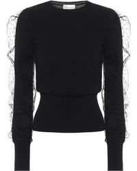 RED Valentino Tulle-trimmed Sweater - Black