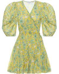 RHODE Wickelkleid Rosie aus Baumwolle - Gelb