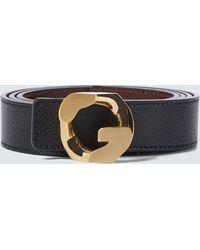 Givenchy Wendbarer Gürtel G Chain aus Leder - Schwarz