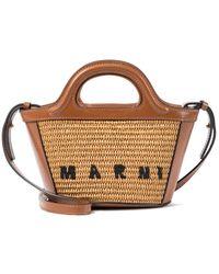 Marni Borsa Tropical Summer Micro in rafia - Multicolore