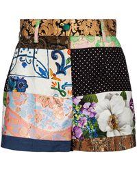 Dolce & Gabbana Short en jacquard et brocart de coton mélangé - Multicolore