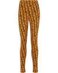 Prada Legging en laine mélangée - Multicolore