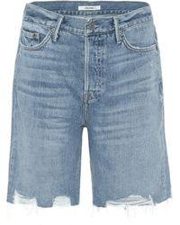 GRLFRND Shorts Marjan de jeans - Azul