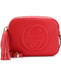 1fc0bd71cb93 Lyst - Gucci Soho Studded Leather Disco Bag in Red