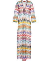Missoni Caftán largo en zigzag - Multicolor