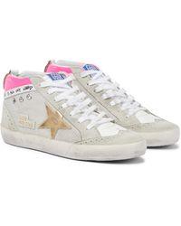 Golden Goose Sneakers Mid Star mit Veloursleder - Grau