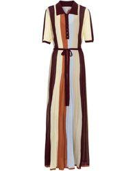 Lee Mathews Robe longue rayée - Multicolore