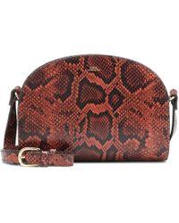 A.P.C. - Demi-lune Leather Shoulder Bag - Lyst