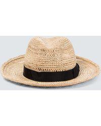 Borsalino Raffia Straw Hat - Natural