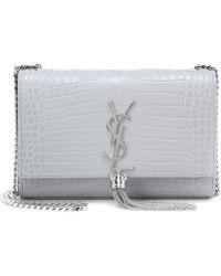 Saint Laurent Schultertasche Medium Kate Tassel - Grau