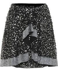 Isabel Marant Minifalda Cole de lentejuelas - Negro