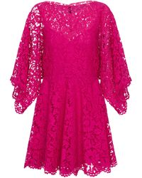 Valentino - Floral-lace Minidress - Lyst