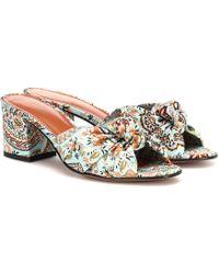 Etro - Printed Satin Sandals - Lyst