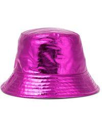 Isabel Marant Hut Haley aus Metallic-Leder - Pink