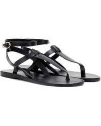 Ancient Greek Sandals Sandali infradito Estia in pelle - Nero
