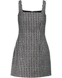 Valentino Robe à logo en coton mélangé - Noir