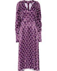 ROTATE BIRGER CHRISTENSEN Clair Midi Dress - Purple