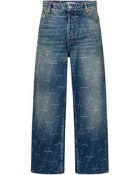 Balenciaga High-Rise Cropped Jeans - Blau