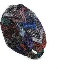 Missoni Fascia per capelli in maglia lamé - Multicolore