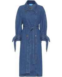 M.i.h Jeans Audie Denim Trench Coat - Blue