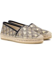 Gucci GG Supreme Bees Espadrille - Natural