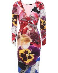Roberto Cavalli - Floral-printed Jersey Dress - Lyst