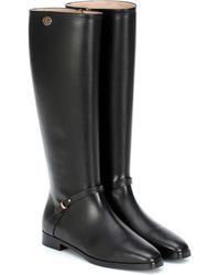 Gucci Double G Leather Knee-high Boots - Black