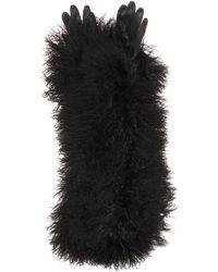 Haider Ackermann - Leather And Fur Gloves - Lyst
