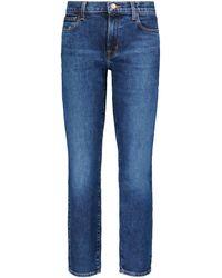 J Brand Adele Mid-rise Straight Jeans - Blue