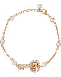 Gucci Bracelet Double G à cristaux - Métallisé