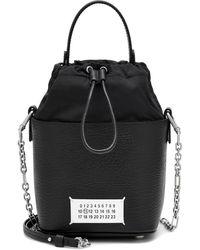 Maison Margiela 5ac Small Leather Bucket Bag - Black