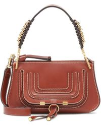 2c5358bed651e Chloé Marcie Baguette Small Leather Shoulder Bag