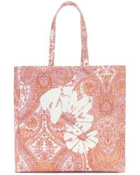 Zimmermann Exclusive To Mytheresa – Logo Paisley Canvas Tote - White