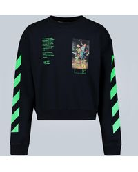 Off-White c/o Virgil Abloh Pascal Painting Crewneck Sweatshirt - Black