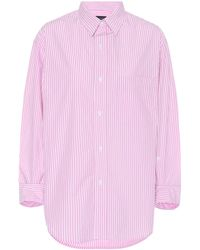 Citizens of Humanity Kayla Striped Cotton Shirt - Pink