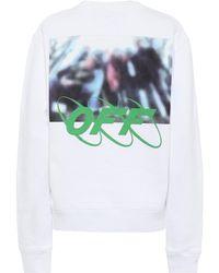 Off-White c/o Virgil Abloh Bedrucktes Sweatshirt aus Baumwolle - Weiß