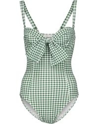 Alexandra Miro Exclusive To Mytheresa – Clara Gingham Swimsuit - Green