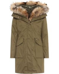 Woolrich - Military Fur-trimmed Parka - Lyst