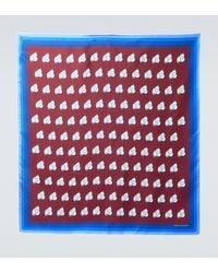 Dries Van Noten Pañuelo de seda estampado - Rojo