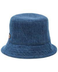 Miu Miu Denim Bucket Hat - Blue
