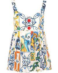 Dolce & Gabbana Top a stampa in cotone - Multicolore