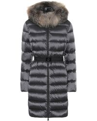 Moncler Tinuv Fur-trimmed Down Coat - Black
