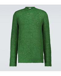 Jil Sander Pullover in lino - Verde