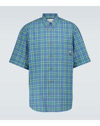 Gucci Camisa de cuadros - Azul