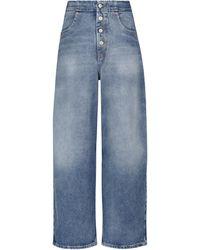 MM6 by Maison Martin Margiela High-rise Wide-leg Jeans - Blue