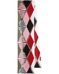 Missoni Schal aus Metallic-Strick - Rot