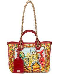 Dolce & Gabbana Tote Capri Small de piel estampado - Rojo